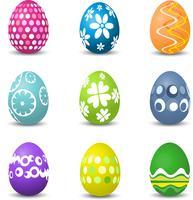 uova di Pasqua vettore