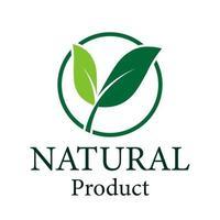 logo foglia verde, ecologia design naturale product.vector illustrazione. vettore