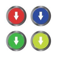 pulsante di download su sfondo bianco vettore