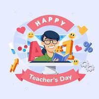 felice giorno dell'insegnante design vettore
