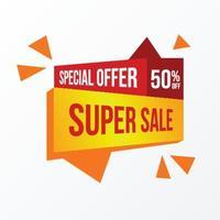 promozione di poster banner super grande mega vendita vettore