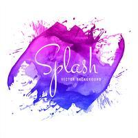 Acquerello colorato sfondo splash vettore