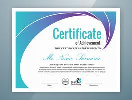 Modello di certificato professionale multiuso