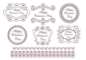 Pacchetto di vettore dell'etichetta di San Valentino felice