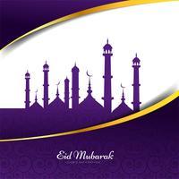 Eid Mubarak design di sfondo islamico