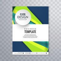Elegante modello di brochure aziendale ondulato vettore