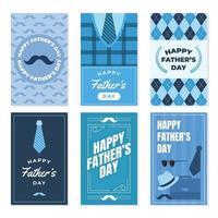 set di carte festa del papà vettore