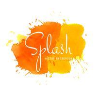 Vettore di splash acquerello colorato astratto
