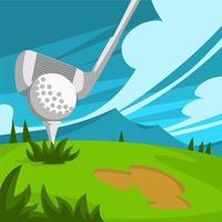 illustrazione di attività all'aperto del golf club vettore