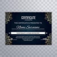 Bellissimo design decorativo certificato floreale vettore