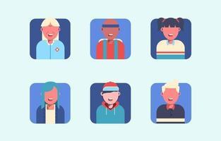 set di avatar di persone generali vettore