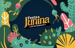 festa junina celebrazione sfondo vettore