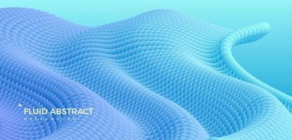 sfondo astratto sfumato fluido ondulazione blu moda moderna tendenza vettore