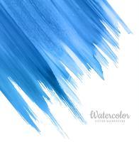 Sfondo blu acquerello moderno vettore