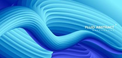 colore freddo moda alla moda che scorre senso pipeline sfondo astratto sfumato fluido blu vettore