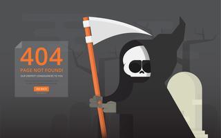 Errore di pagina 404 con figura divertente. vettore