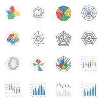 grafici di ragno e web vettore