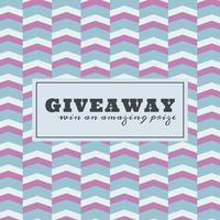 Modello di concorso Giveaway con un pattern