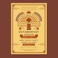 Oktoberfest Flyer Template Vector