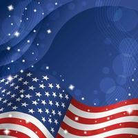 4 luglio sfondo bandiera americana giorno dell'indipendenza vettore