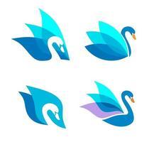 modello di progettazione di vettore di logo del cigno