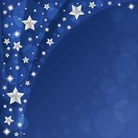 cielo blu con bellissime stelle sullo sfondo vettore