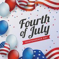 festeggia il quarto di luglio il giorno dell'indipendenza degli stati uniti vettore