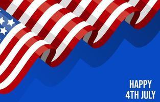 4 luglio sfondo bandiera america vettore