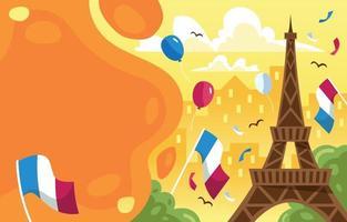 sfondo della celebrazione del giorno della bastiglia in francia vettore
