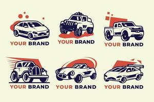 collezione di logo della società automobilistica vettore