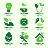 collezione logo naturale vettore