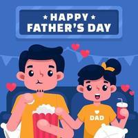 cartolina d'auguri di felice festa del papà vettore