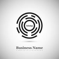 Priorità bassa di logo del cerchio creativo moderno vettore