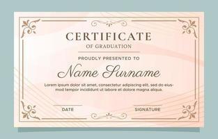 certificato di modello di progettazione di laurea vettore