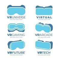 collezione di logo di realtà virtuale vettore