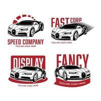 collezione di logo di auto da corsa vettore