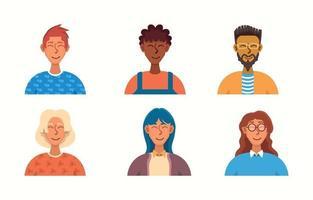 raccolta di avatar di persone vettore