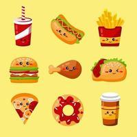 logo di fast food vettore