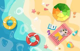 illustrazione di estate spiaggia vettore