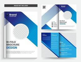 brochure aziendale bifold o modello di progettazione di copertina di una rivista vettore