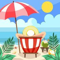 goditi l'attività estiva sulla spiaggia vettore