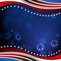 priorità bassa di celebrazione del giorno dell'indipendenza dell'america vettore