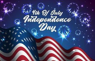 illustrazione della bandiera americana per celebrare il giorno dell'indipendenza vettore