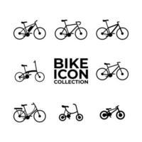 insieme della raccolta dell'icona della bici vettore