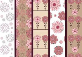 Modelli di Illustrator floreali rosa e marrone