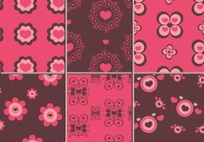 Pattern di Illustrator di cuori rosa e marrone