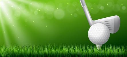 sfondo realistico di golf club vettore