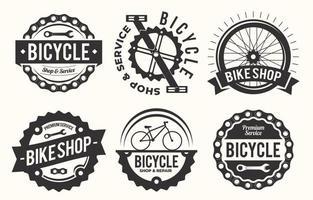 collezione di badge per biciclette vettore