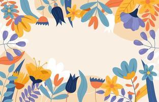 sfondo di vari fiori da giardino vettore