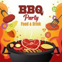 illustrazione di festa barbecue vettore
